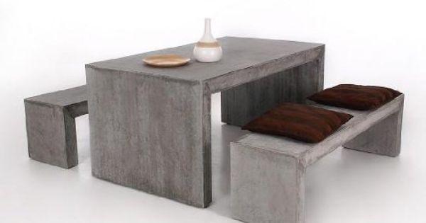 Moderna 160 Betonmobel Gartenmobel 3er Set Sitzgruppe Aus