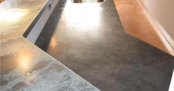 Poured Concrete Counters Concrete Countertops Furnishings Design Kitchen Addition