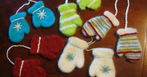 Using Cookie Cutters to Make Needle Felted Ornaments- Great way to use