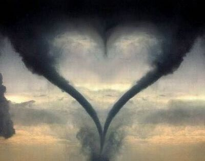 Texas heart tornado - the middle of the heart is a 3rd