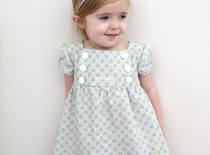 The Junebug Dress Pattern. So cute! Hope to have a little girl