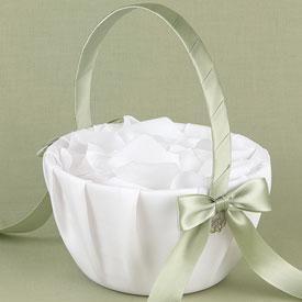 Candy Storage Flower Girl Basket Container Bowknot Burlap Satin Flower Gift Basket for Ceremony Wedding Decoration Lace Flower Basket Wedding Vintage Basket Flower Girl Basket