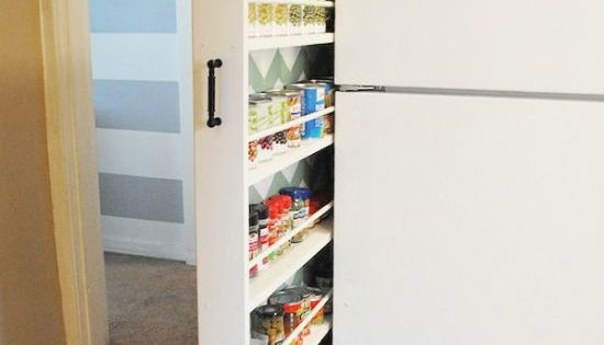 """absolutely genius. Such an itty bitty space in her kitchen {only 6""""!}"""
