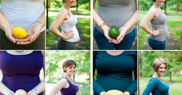 Fruit Sized Baby - such a cute way to document your pregnancy