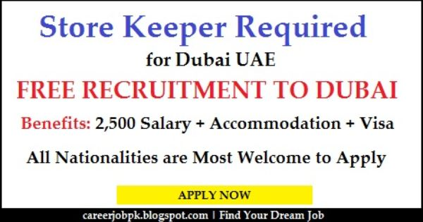 Store Keeper Jobs In Dubai With Visa We Are Hiring Only