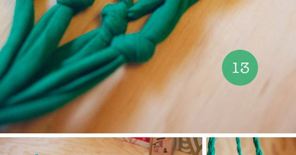 Tutorial: t-shirt plant hanger recycle reuse repurpose diy crafts