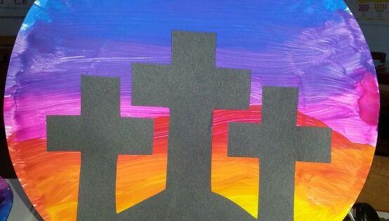 Paper Plate Cross Craft Preschool Crafts Pinterest