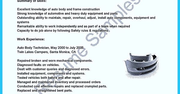 Pinterest u2022 The worldu0027s catalog of ideas - auto tech resume