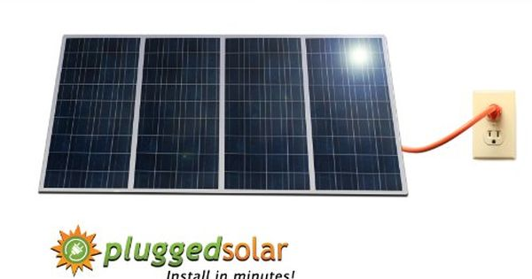 Plugged Solar 1kw Solar Grid Tie System4 X 250 Watt Solar Panel With Micro Grid Tie Inverters Attached Cryst Solar Panels Best Solar Panels Solar Energy Panels