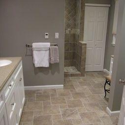 Wall Color Floor Bathroom Gray Walls Design Pictures Remodel