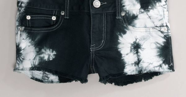 American Eagle Outfitters Ae Tie-Dyed Denim Shortie ❤ liked on Polyvore