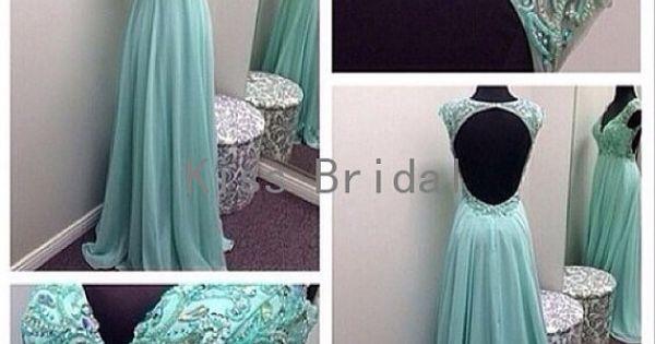 2014 newest backless v-neck beading chiffon elegant formal dress/ evening dress/ prom