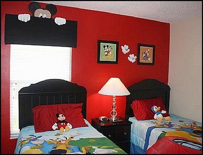 mickey mouse theme bedroom ideas -2-mickey mouse theme ...