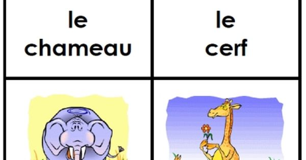 free french animal flashcards printable from FransFreebies ...