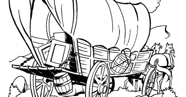 Kid coloring pages of Prairie schooners