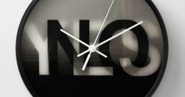 Yes No Wall Clock By Lena Weiss 30 00 Wall Clock Clock Wall