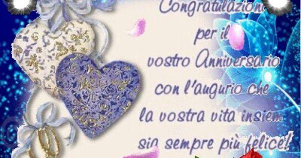 Auguri Anniversario Matrimonio Un Anno : Buon anniversario cartoline auguri pinterest