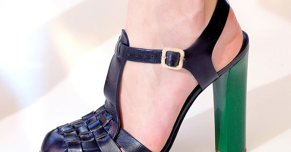 Tory Burch Spring 2013: love the green heel