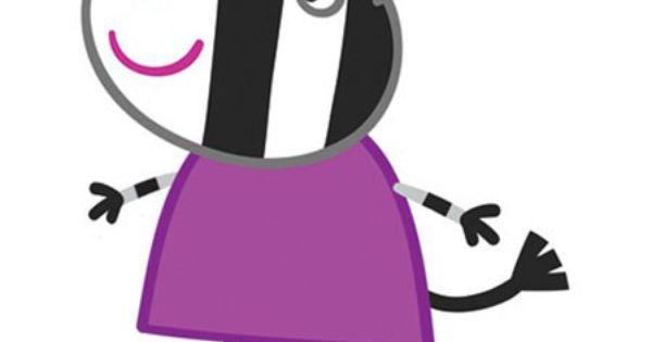 Peppa pig cartone animato famiglia di zoe