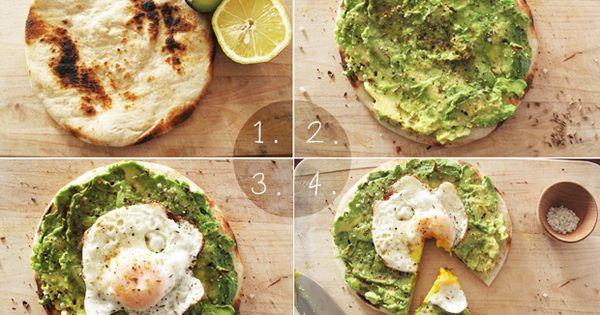 Easy as Pie! Avo + Eggs Breakfast Pizza: Avacado, Half a Fresh