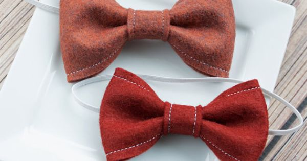Felt bow tie grass meadow baby toddler bow by for Felt bow tie template