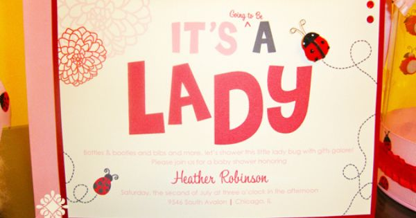 Lady Bug Invitation | Flickr - Photo Sharing!