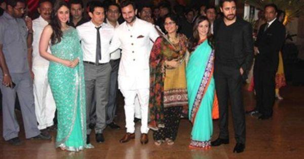 Kareena Kapoor Saif Ali Khan Reception Party Wedding Pictures 2012 Kareena Kapoor Wedding Kareena Kapoor Indian Actresses