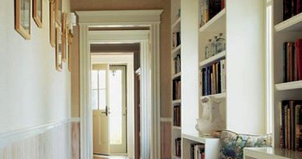 What a great idea - turn a hallway into a home library