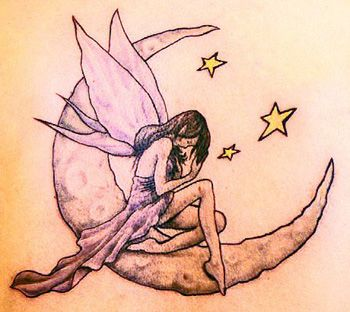 25 Meaningful Half And Full Moon Tattoo Designs Styles At Life Small Fairy Tattoos Fairy Tattoo Fairy Tattoo Designs