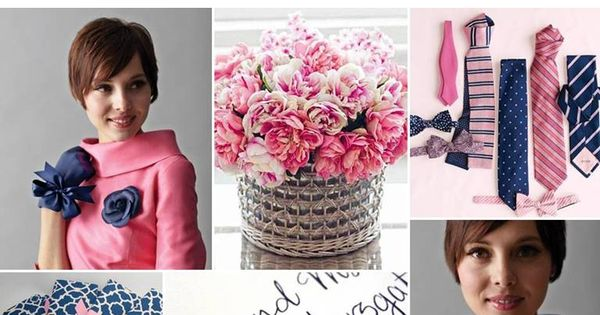 Navy Blue + Pink ☛ http://ow.ly/9K6JP Pretty color combinations..