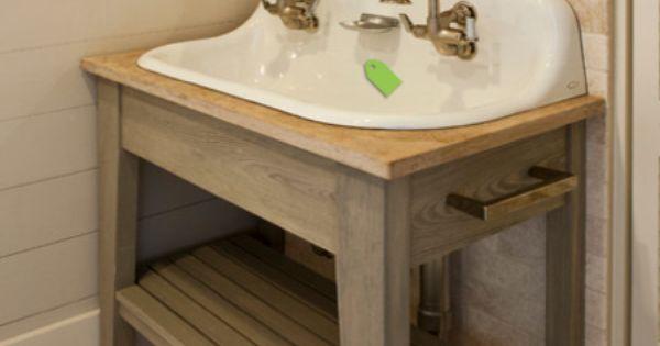 Trough Sink Rustic Bench Bathroom Ideas Pinterest