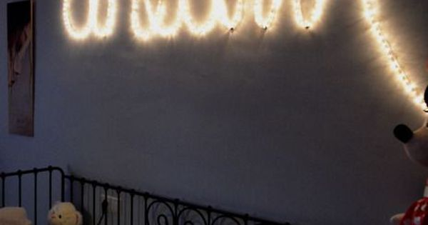 Spell Out Words With String Lights Bedroom Ideas Pinterest String Lights Bedroom Designs