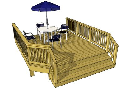 Free Deck Plan 1l088 Deck Plans Diy Wood Deck Plans Easy Deck