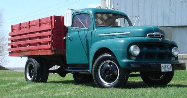 1951 Ford F 4 Flatbed Grain Truck All Original Low Mileage
