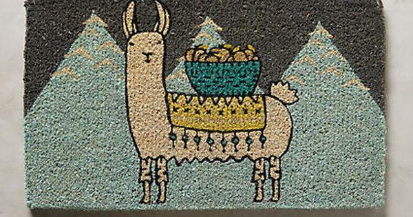 Mountain Llama Doormat | Your Anthropologie Favorites ...