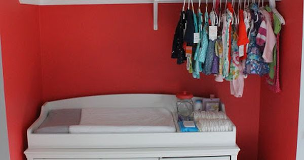 Love This Idea Put Dresser Changing Table In The Closet
