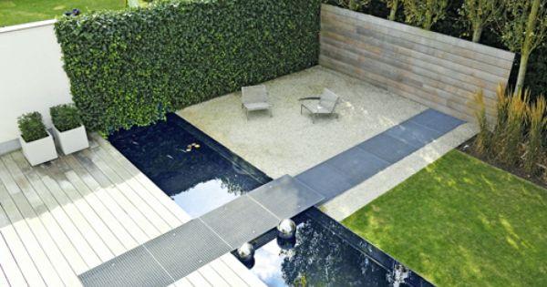 Schöner Sitzplatz mit Wasser und Sichtschutz Garten Pinterest - sichtschutz garten modern