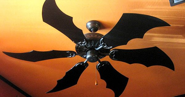 bat winged ceiling fan blades I'm feeling a batman room