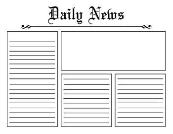 Newspaper Template Newspaper Template Newspaper Article