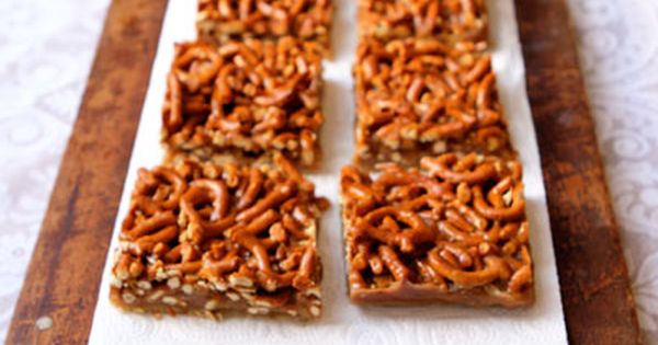 Best Bar & Brownie recipes from Saveur! Caramel Pretzel Bars, Cream Cheese