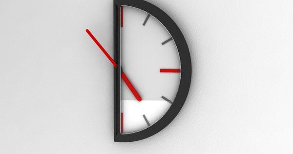 Half an Hour Clock by Ufuk Keskin - lifestylerstore - http://www.lifestylerstore.com/half-an-hour-clock-by-ufuk-keskin/