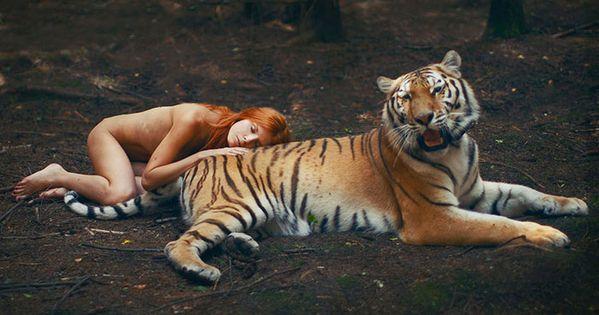 Katerina plotnikova una fot grafa rusa fotograf a a personas con animales salvajes sin - Animales con personas apareandose ...