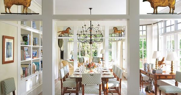 Candice Bergen 39 S East Hampton Dining Room Love The Weathervanes Decorating Ideas Pinterest