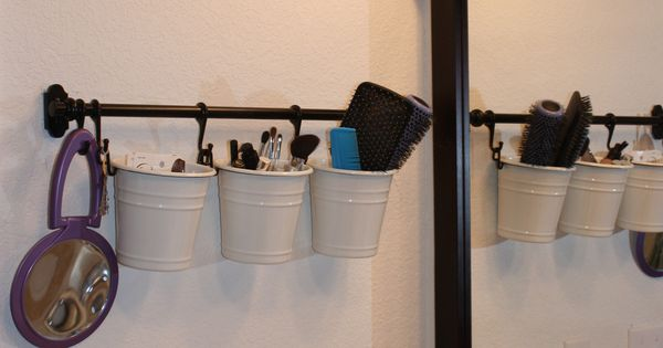 Great idea for a small bathroom to clear up counter space !!!!