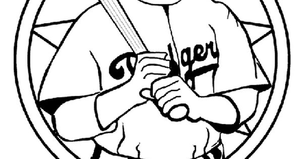 Jackie Robinson Baseball Player Coloring Page Crafts