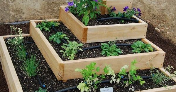 Raise Garden Bed For Strawberries And Herbs Awesome