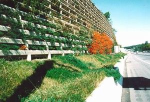 Photo Of A Concrete Noise Barrier With Planting Bays Noise Barrier Landscape Landscape Architecture