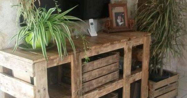 enfilade buffet meuble t l en bois de palette ebay bricolage pinterest bois meuble. Black Bedroom Furniture Sets. Home Design Ideas