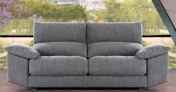 Sof moderno de 3 y 2 plazas modelo zeus fabricado por for Sofas modernos barcelona