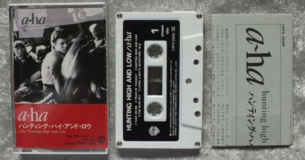 1985 A Ha Hunting High And Low Cassette Tape Import Cassette